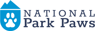 national park paws dog logo full color